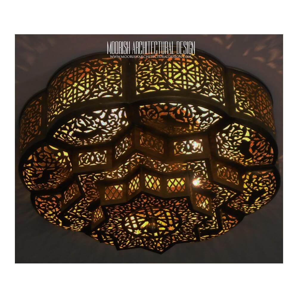 kitchen cabinet door knobs small island moroccan flush mount ceiling lights | exotic ...