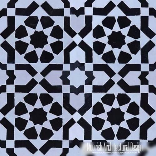 moroccan tile backsplash black