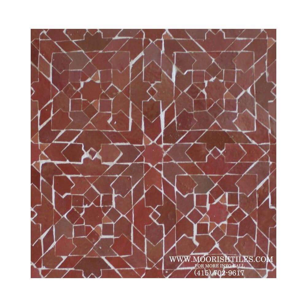 wrought iron kitchen table wood chairs moroccan tile atherton california