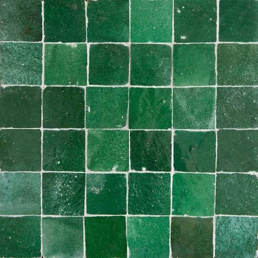 green moroccan tile emeral green zellige