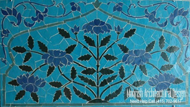 bathroom mosaic tile murals design