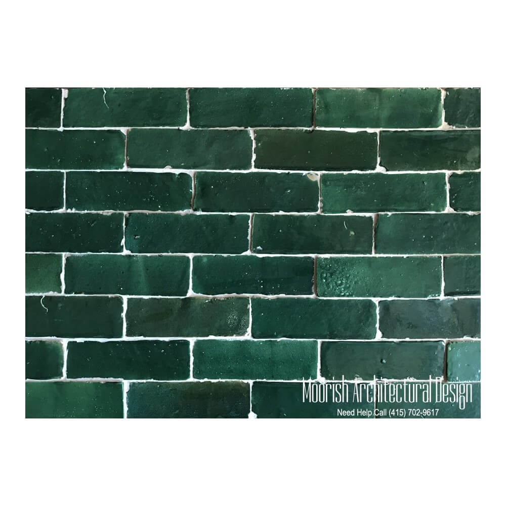 decorative kitchen plates for wall mandoline green moroccan subway tiles | bejmat
