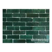 Green Moroccan Subway tiles | Green Bejmat