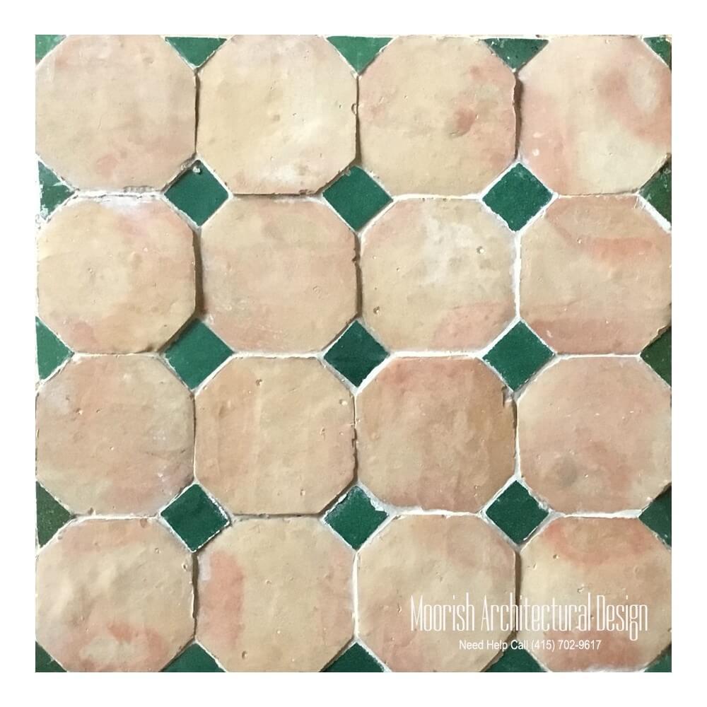 octagonal moroccan terracotta floor tile