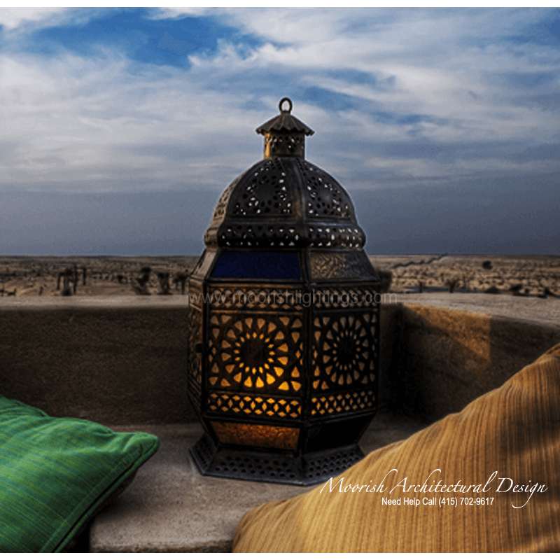 Moroccan Landscape lighting  Moorish exterior lighting