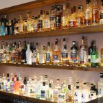 View of the whisky selection.