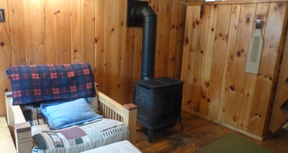 Highlands Camp Sitting Area with Propane Stove
