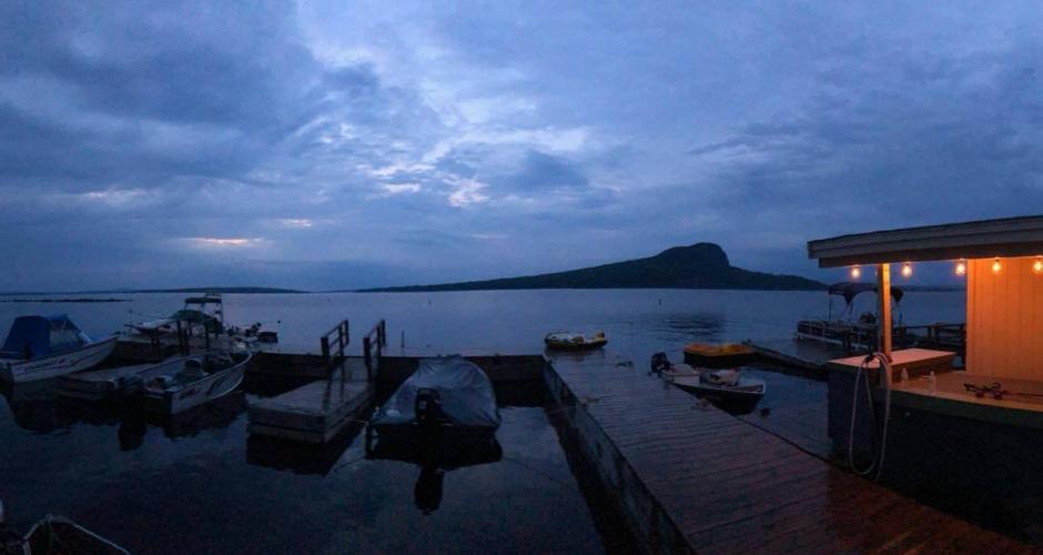 Rockwood Cottage Docks at Night