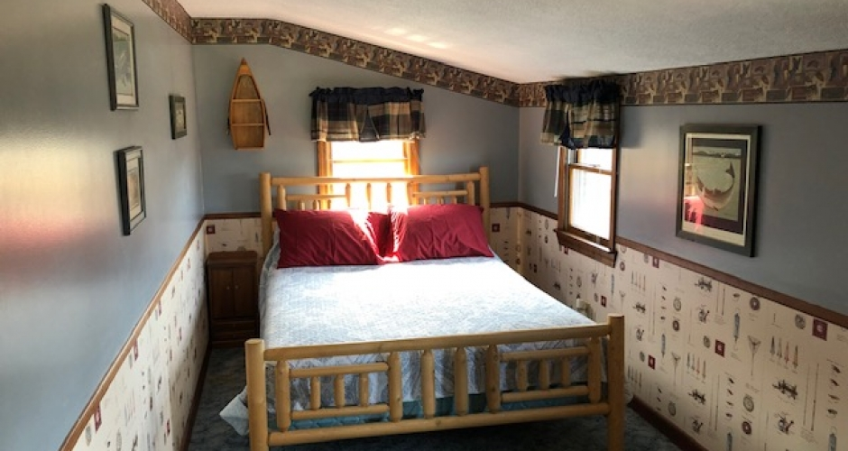 Queen Bedroom at Lodge at Moosehead Lake
