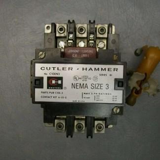 C10EN3-Cutler-Hammer-Contactor-w-Coil-1889-1-120V-AuxC320KA2-C320KB5-Size-3