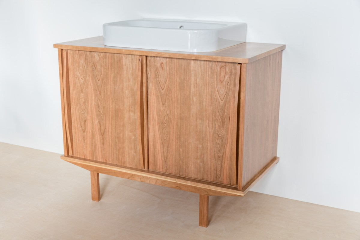 Solid Timber American Cherry Vanity Unit
