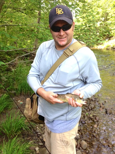 Mark caught this Brown Trout on a Panther Martin.