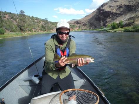 Brenton holding is 19+ Rainbow Trout slab.