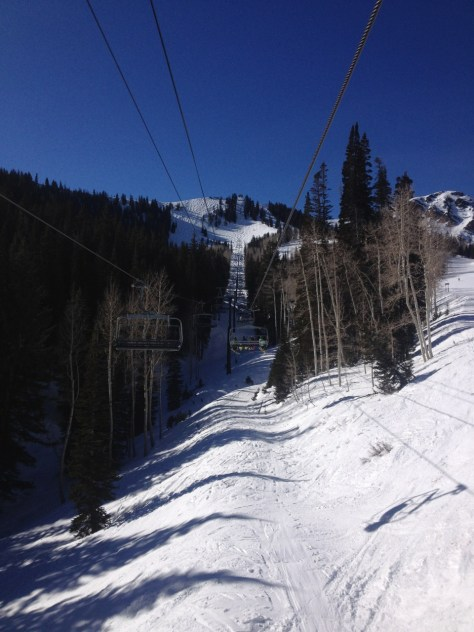 View from the chairlift.