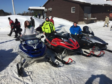 Everyone is now re-equipped with snowmobiles