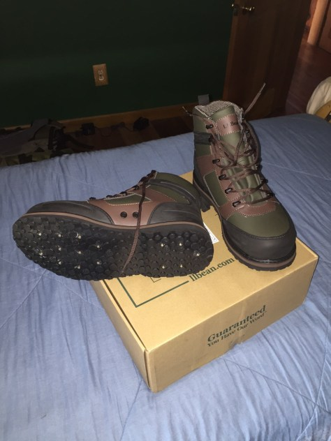 Brand new L.L. Bean wading shoes, new boot smell and all.