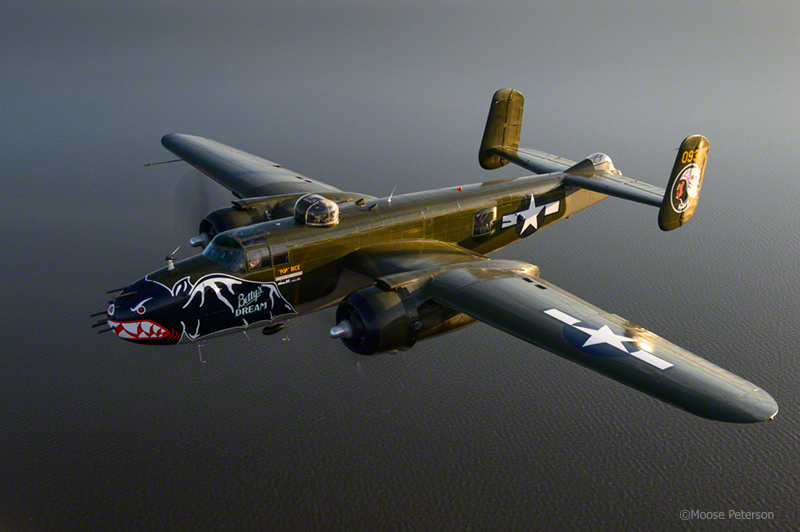 "B-25J ""Betty's Dream"" captured by D4, 24-70AFS"