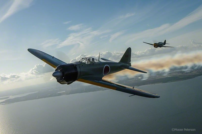 A6M2 Zero being chased by P-40 What you might have seen Dec 7th, 1941 over Pearl
