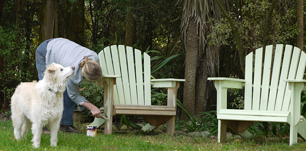 Painting the Garden Furniture