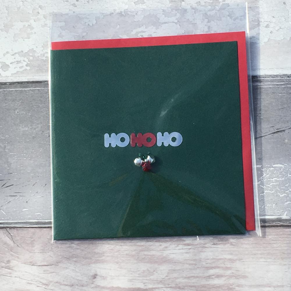 Ho ho ho handmade Christmas card
