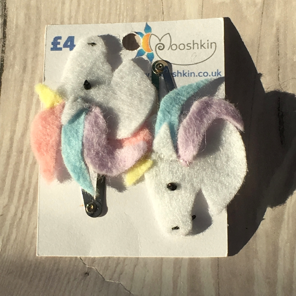 Felt unicorn hair clips
