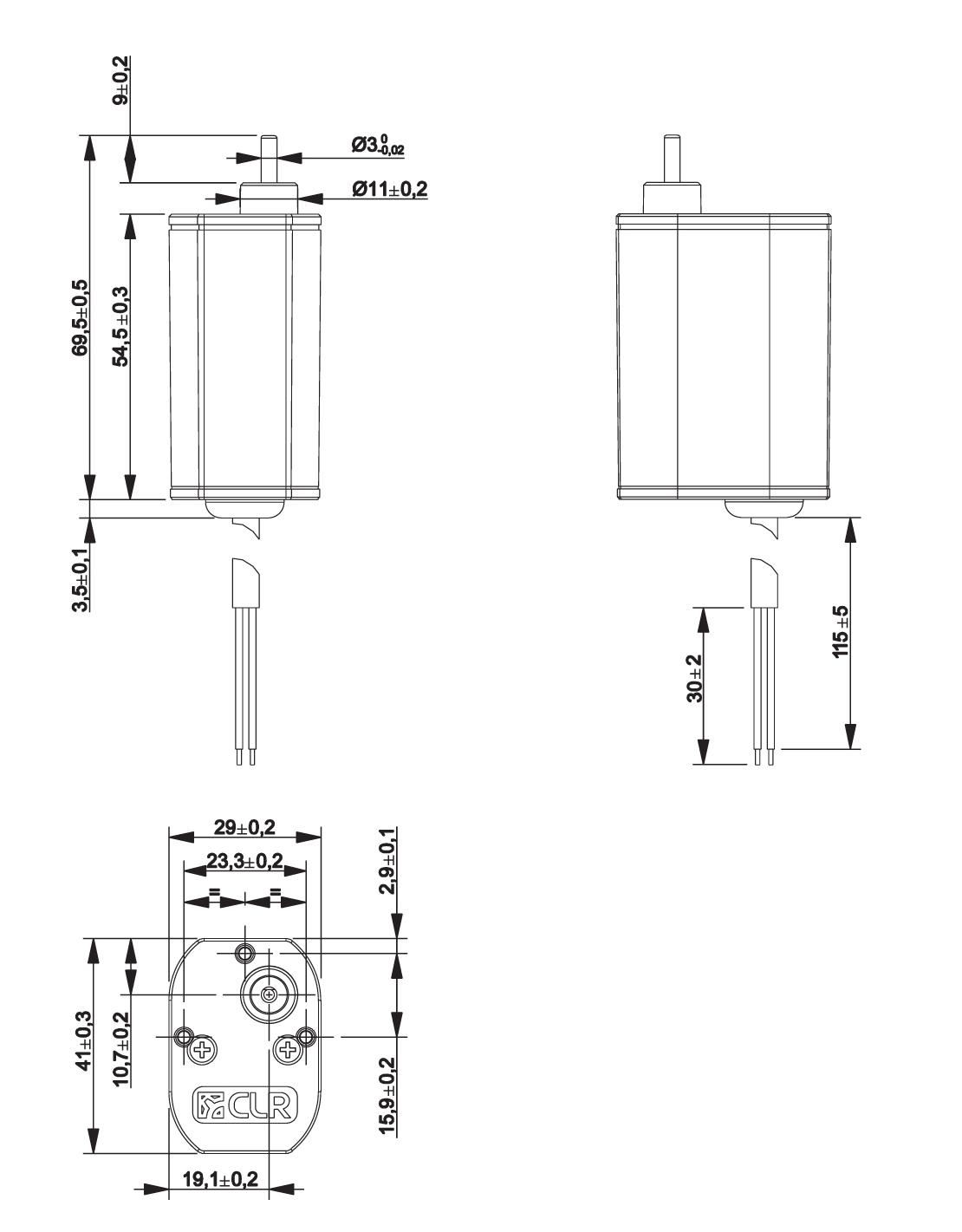 Gear Motor Dc 6v 19rpm Ref 6