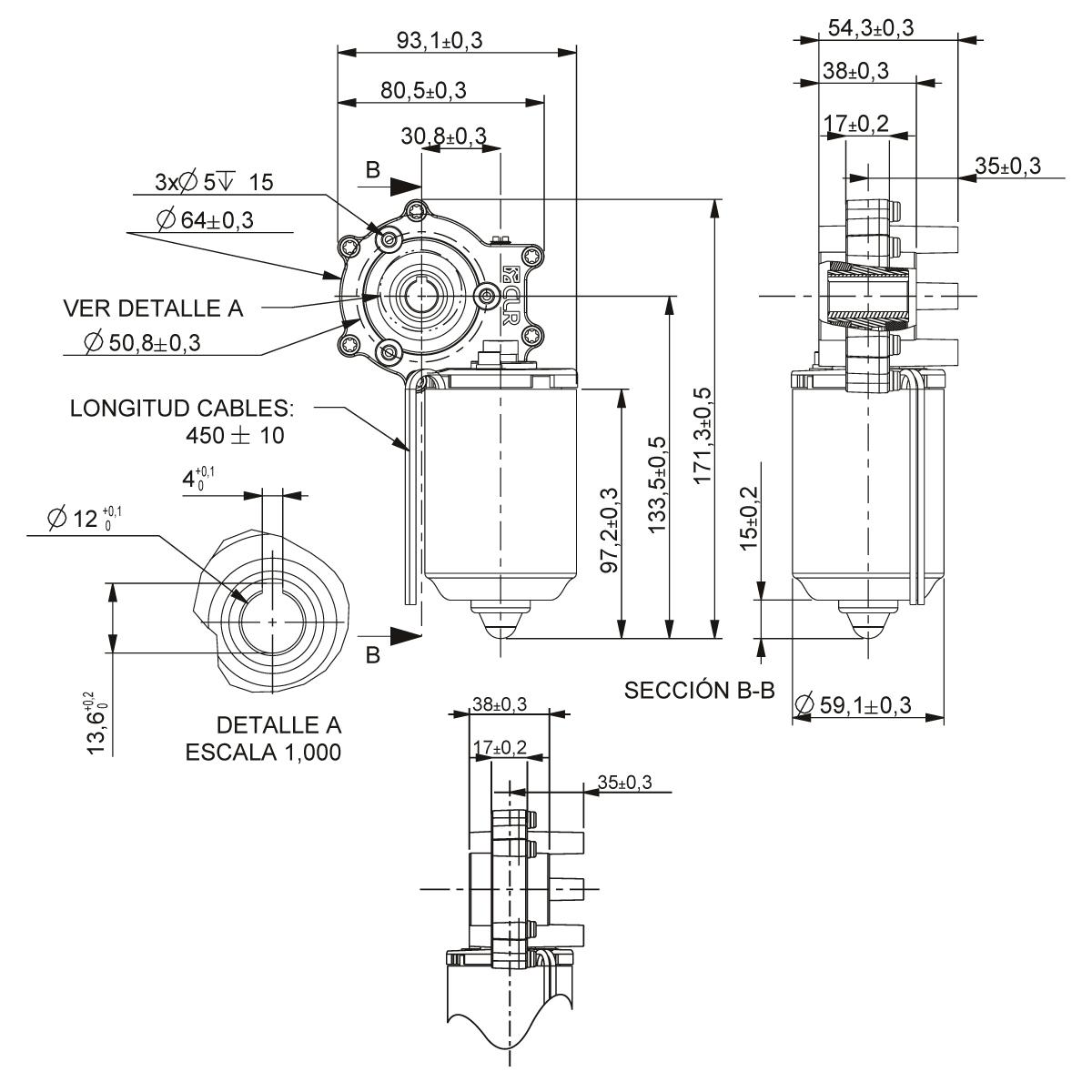 Gear Motor Dc 24v 94rpm Ref 24