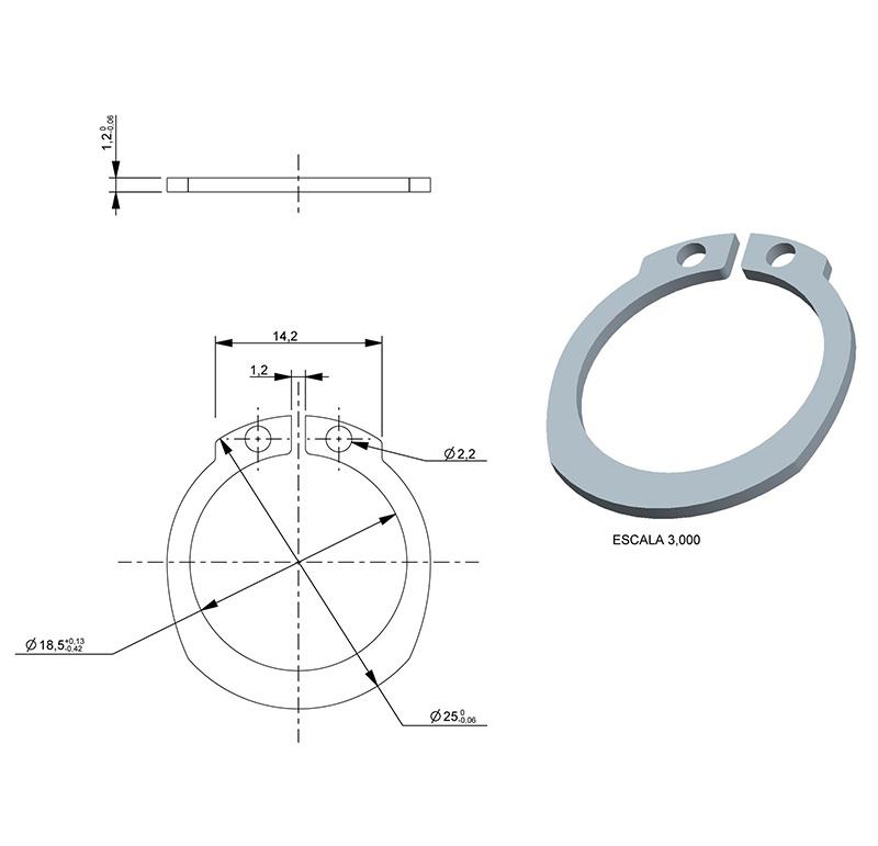 Washer Inner diameter 18.50mm, Thickness 1.20mm, Type