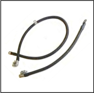 Set of cotton jacket negative and postive battery cables