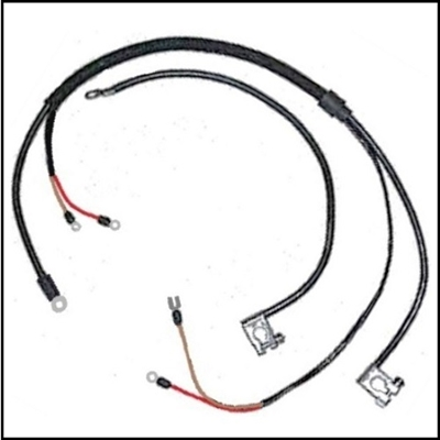 Positive and negative battery cables for 1962-65 Plymouth