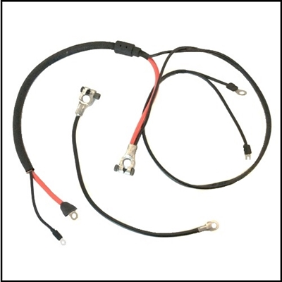 OE-style positive and negative battery cables for all 1965