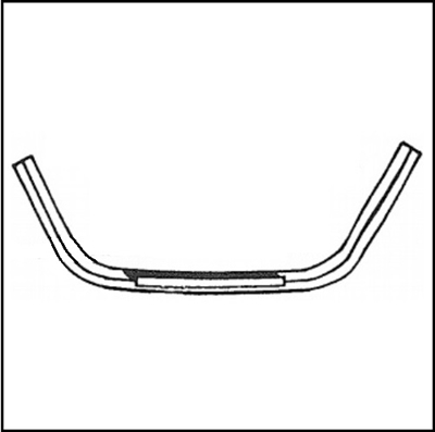 PN 1651031 Fuel filler door rubber bumper strip for 1956