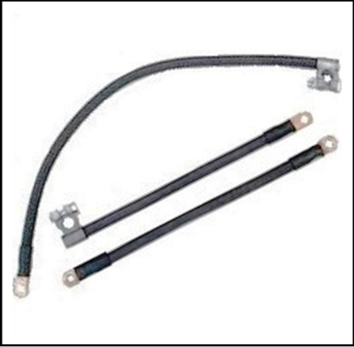 Cloth-jacket battery cable set for all 1955 Plymouth
