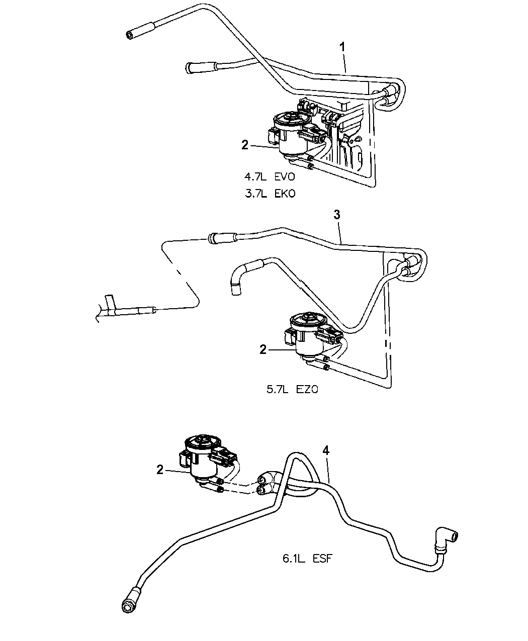 Jeep Grand Cherokee Emission Control Vacuum Harness