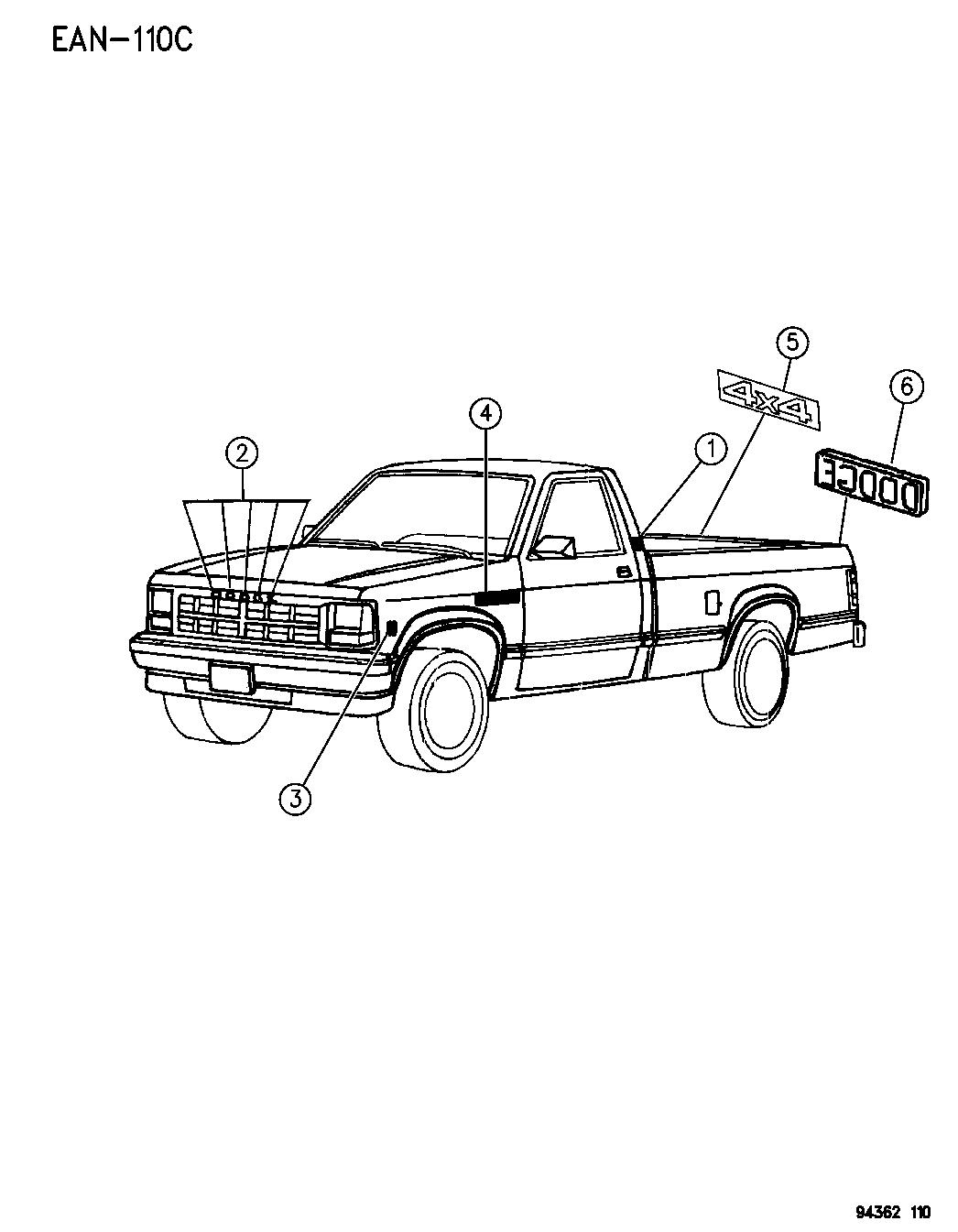 Dodge Dakota Nameplates Amp Ornamentation