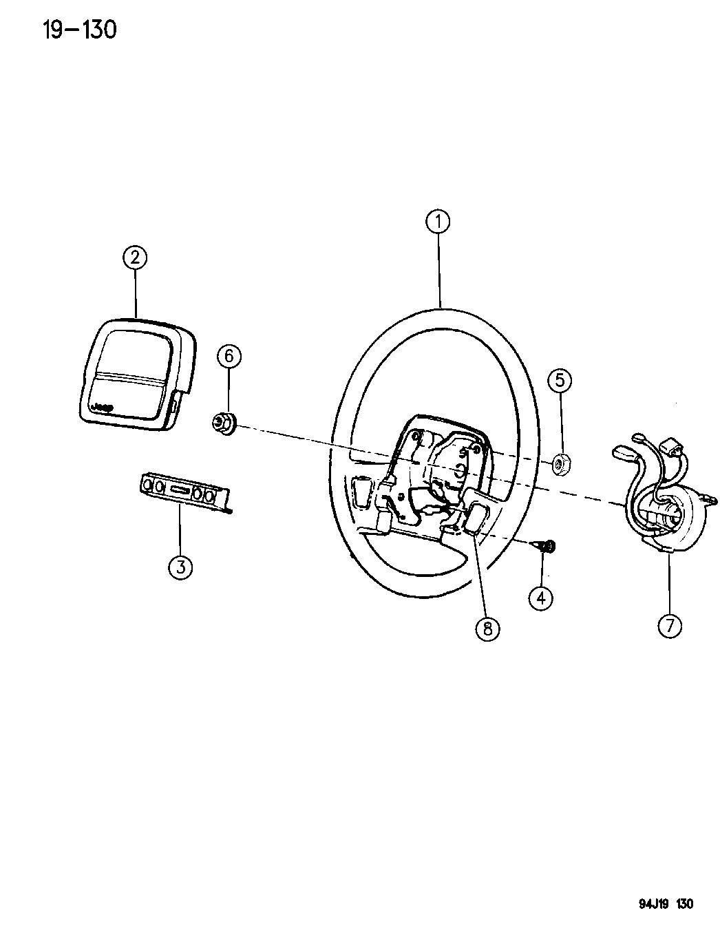 Jeep Grand Cherokee Steering Wheel