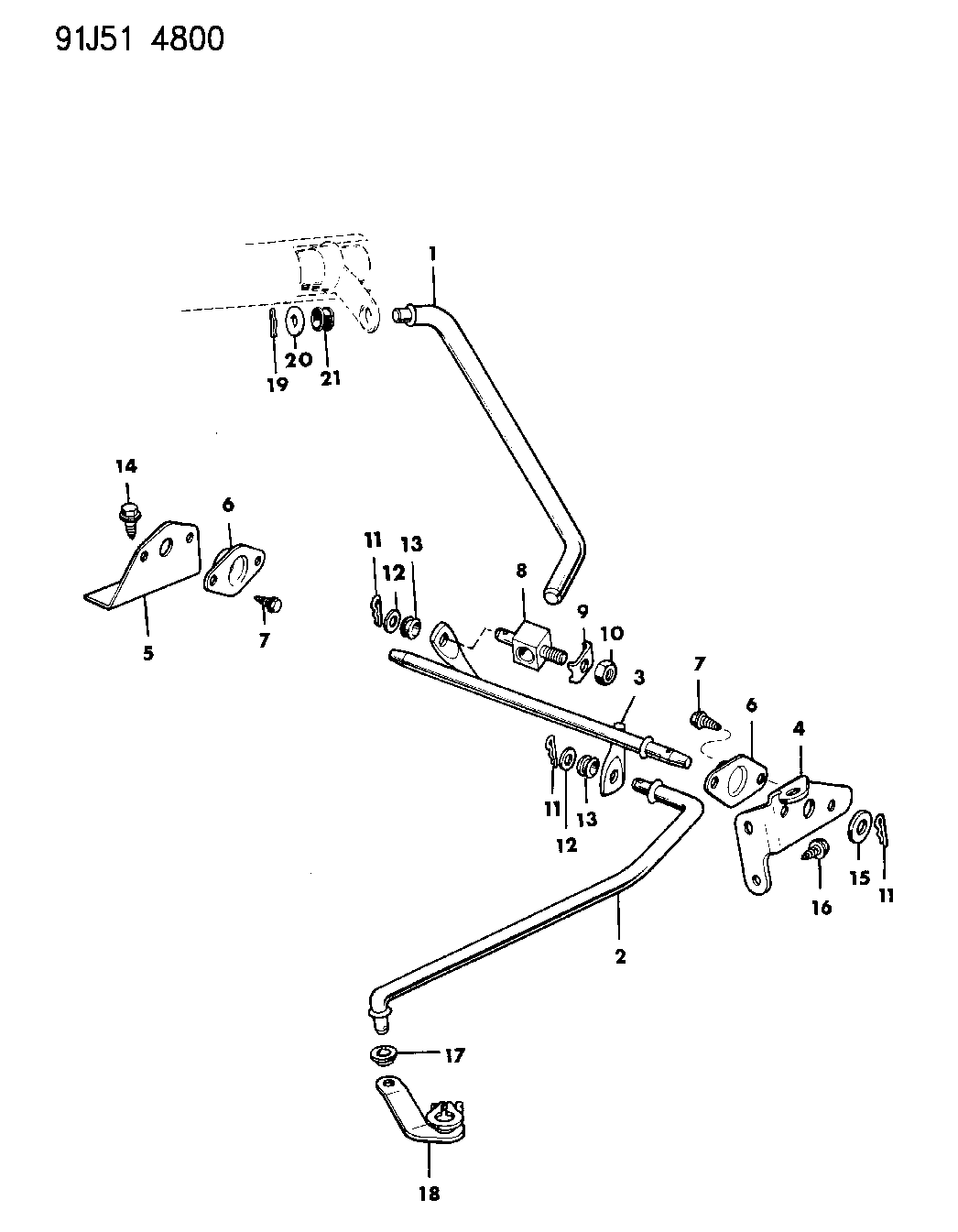 1991 Jeep Grand Wagoneer Controls, Shift, Lower