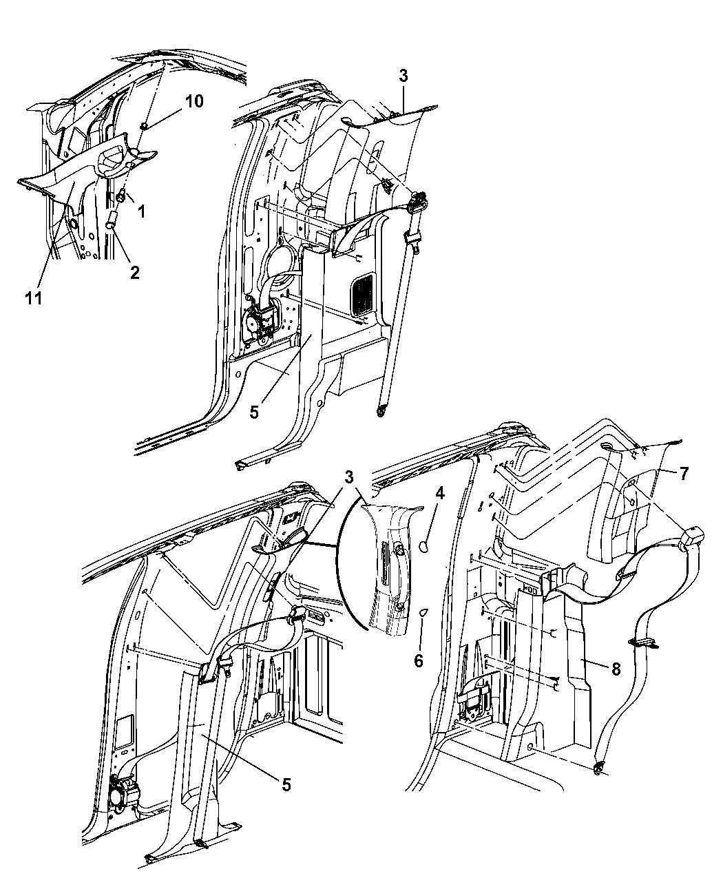 Dodge Ram Interior Moldings And Pillars