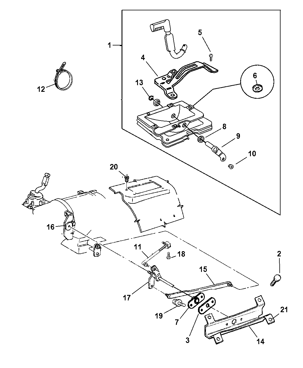 1999 Jeep Wrangler Gearshift Controls of Transfer Case Model