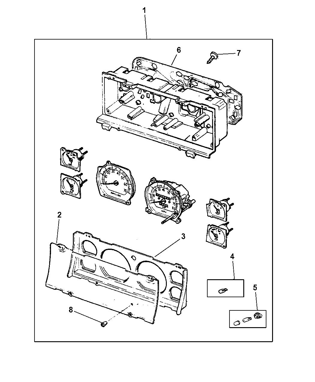 Jeep Cherokee Cluster Instrument Panel