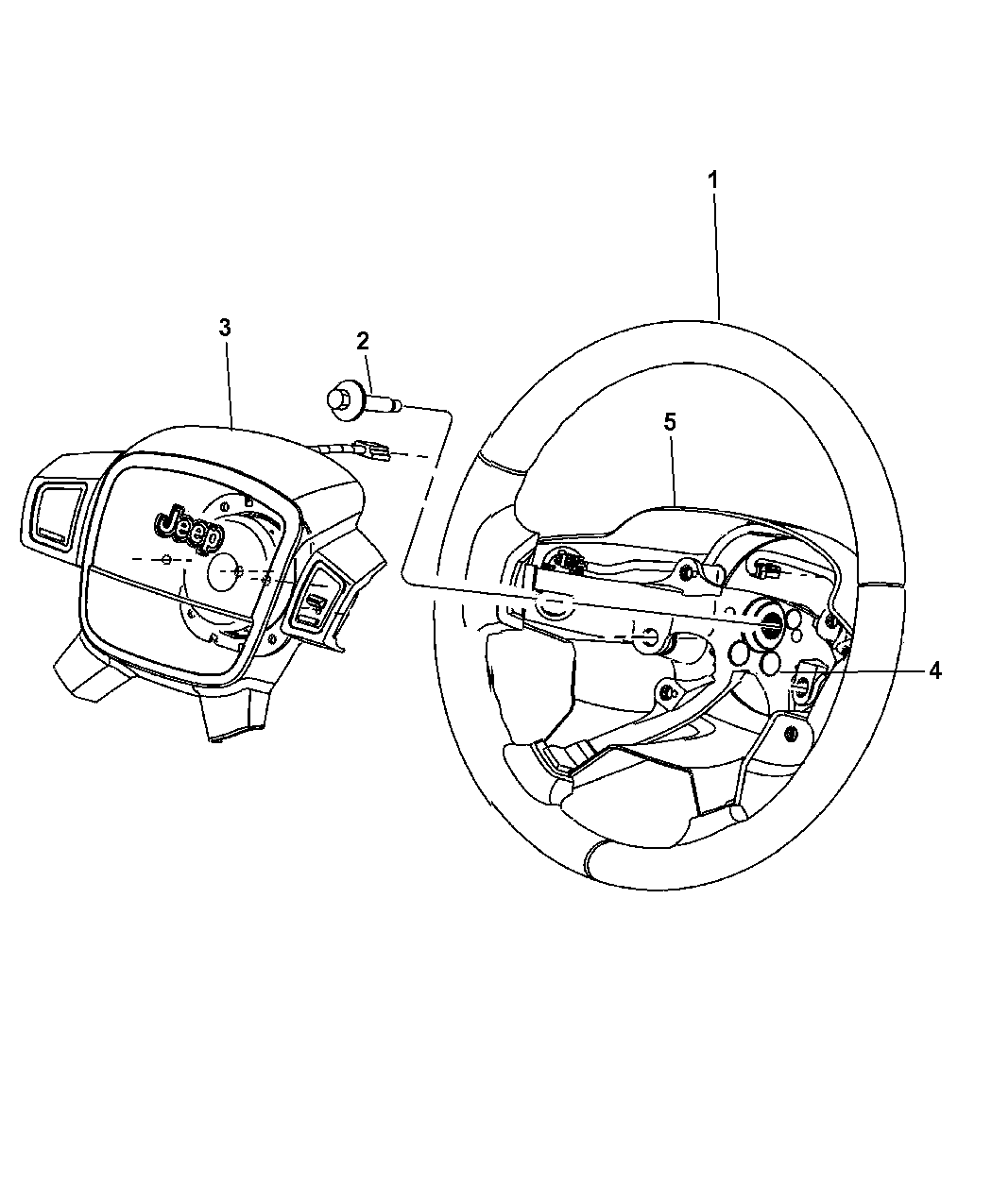 Jeep Grand Cherokee Steering Wheel Assembly