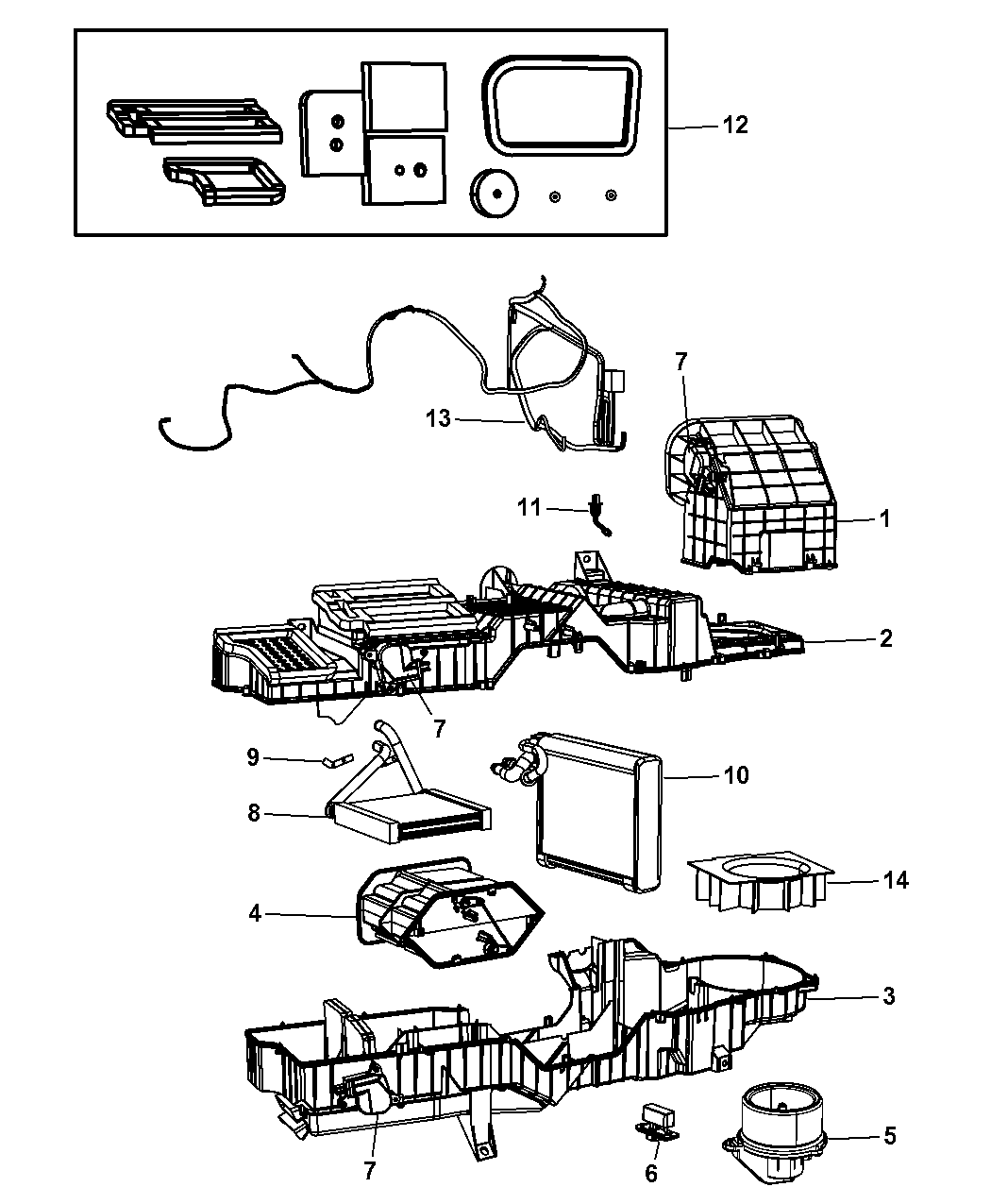 Dodge Ram A C Amp Heater Unit