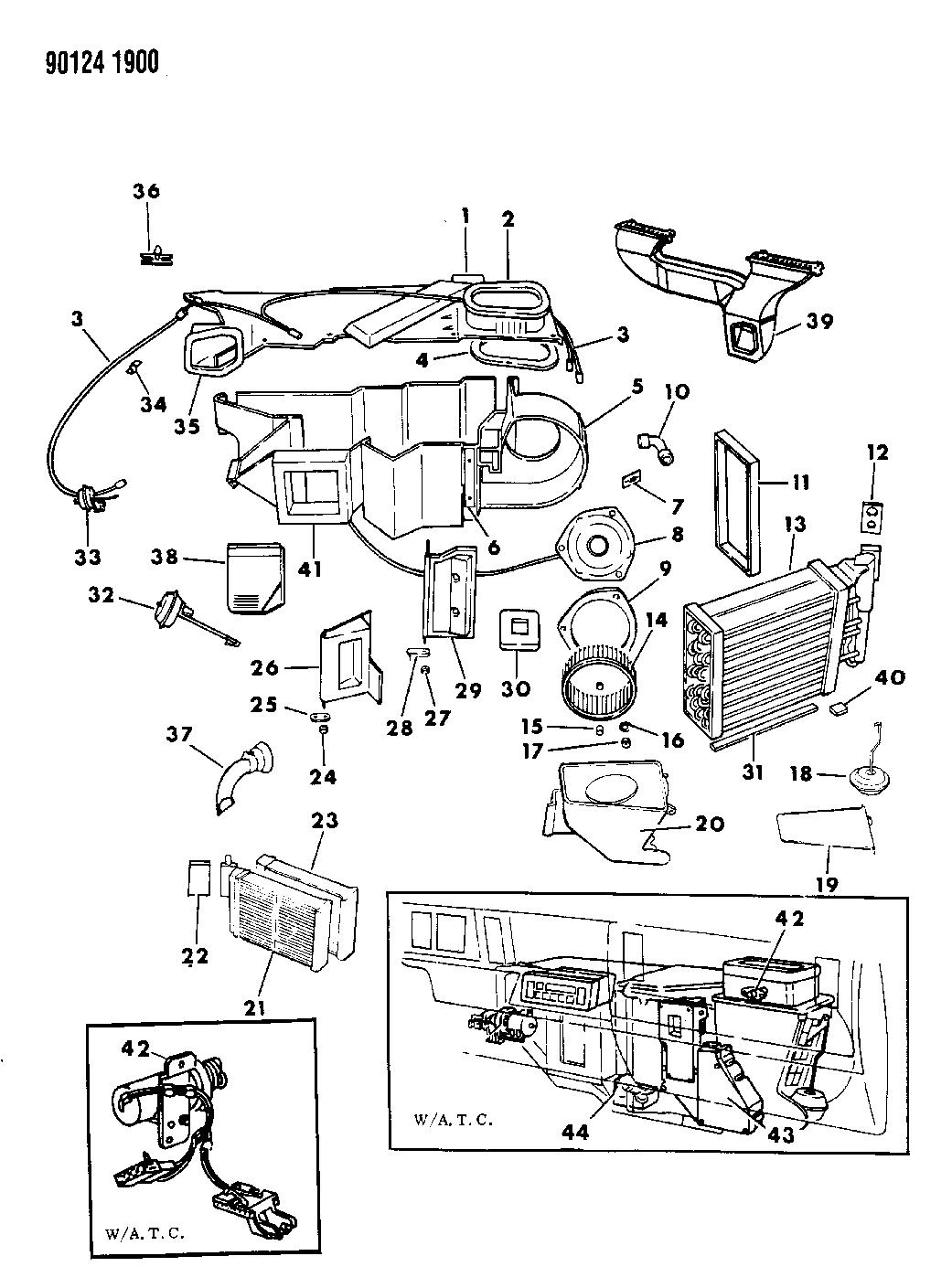 1990 Dodge Daytona Air Conditioning & Heater Unit