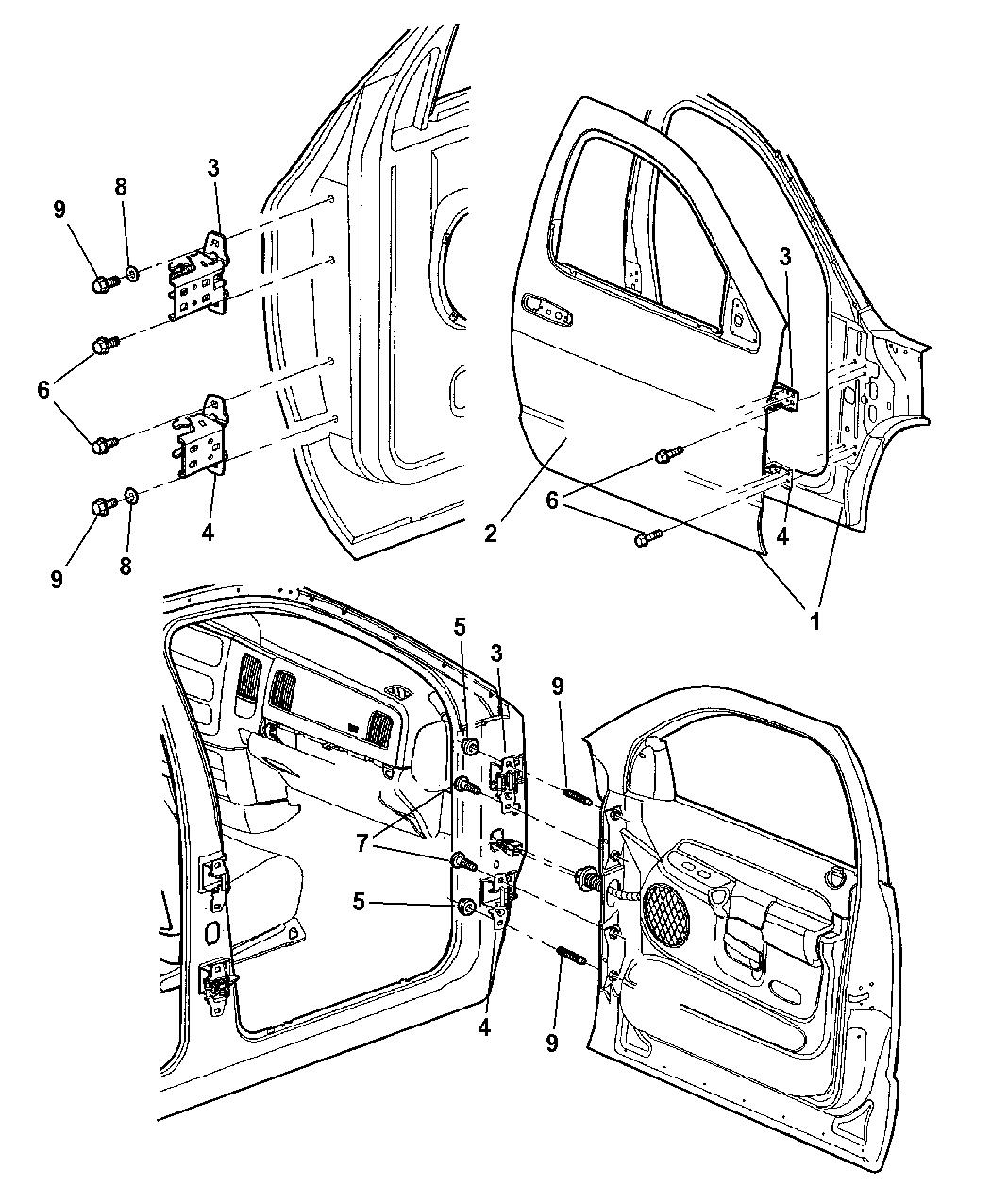 Dodge Ram Door Front Shell Amp Hinges