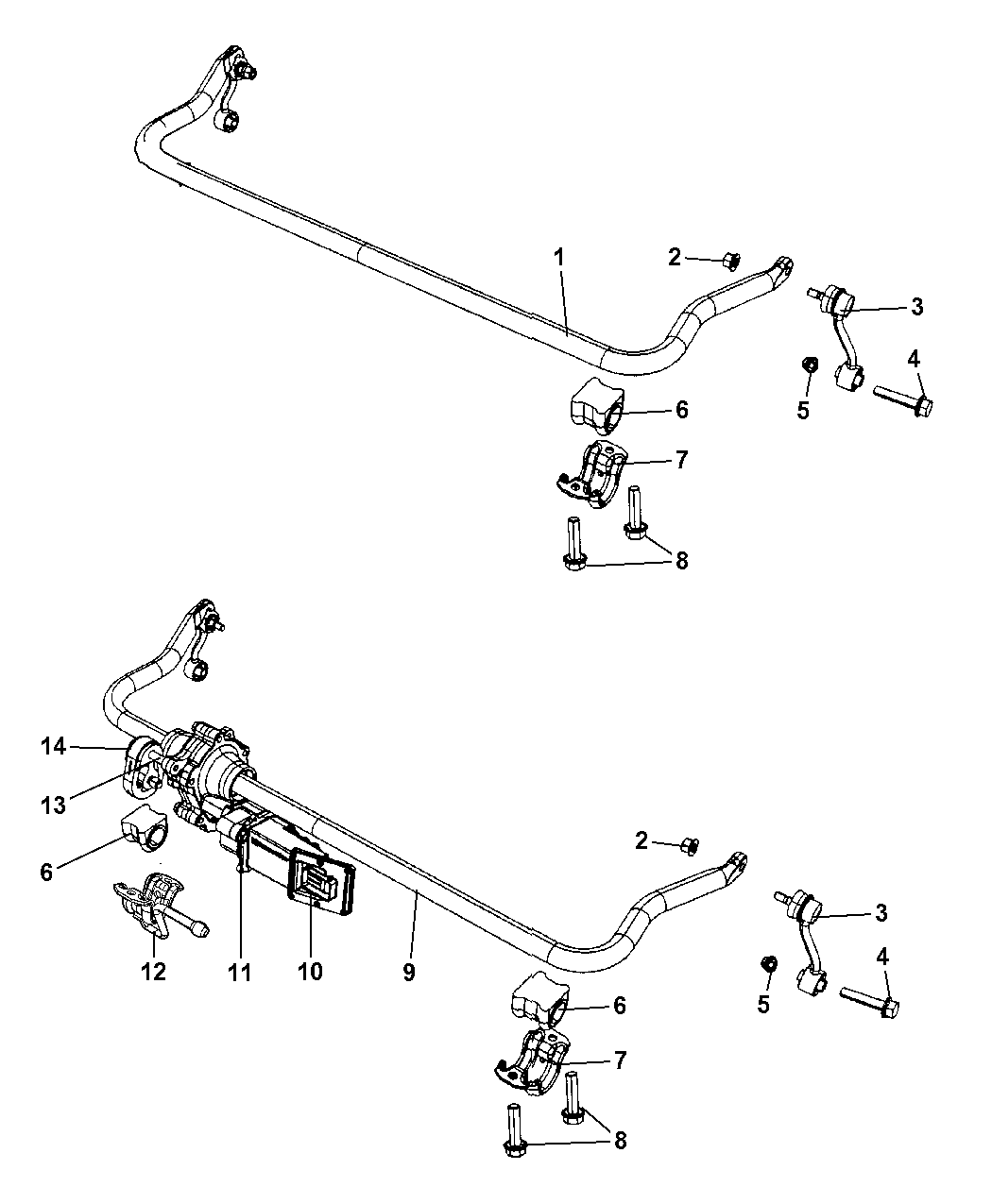 Jeep Wrangler Front Stabilizer Bar