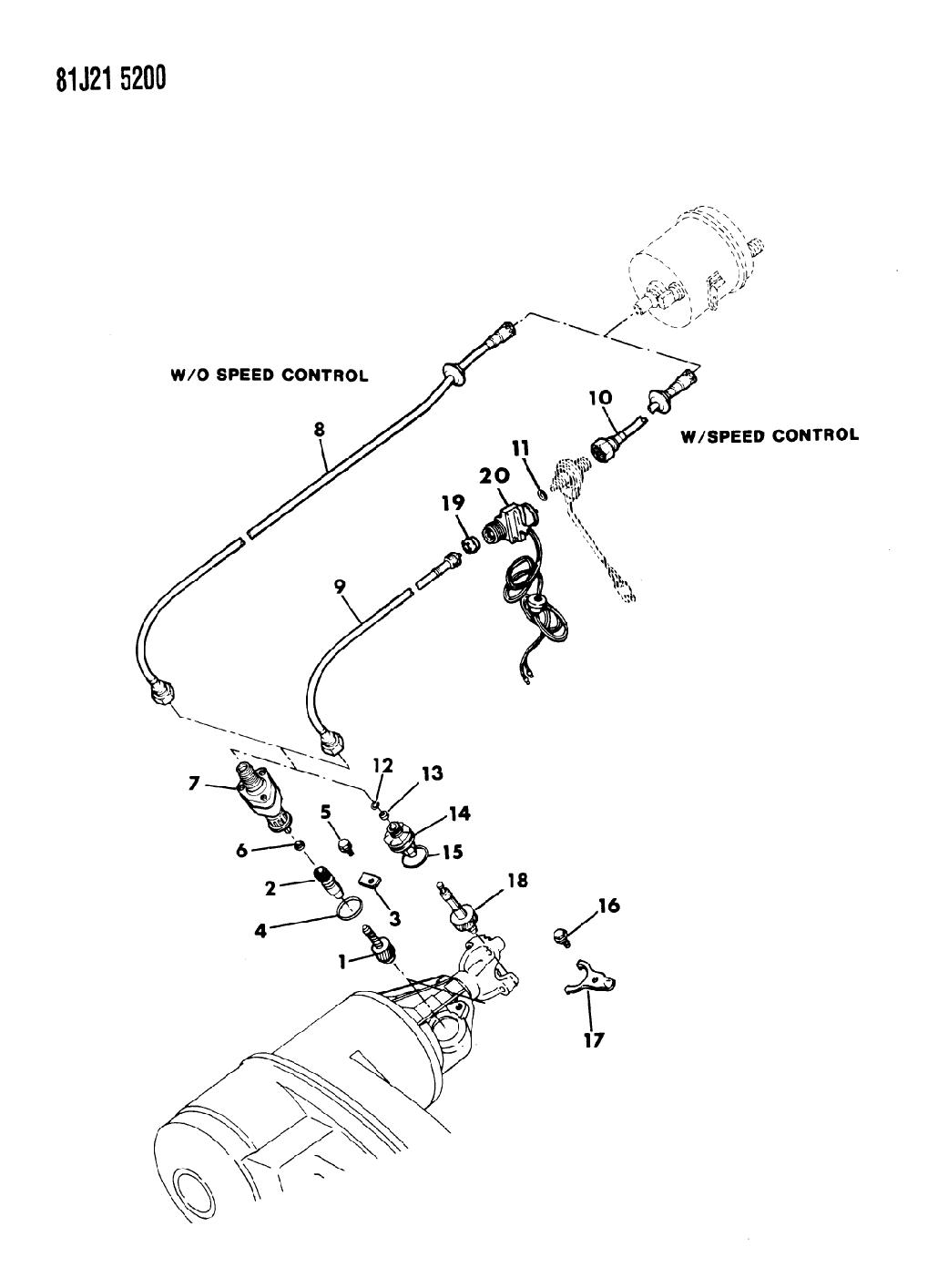 1986 Jeep Comanche Cable, Speedometer & Pinion