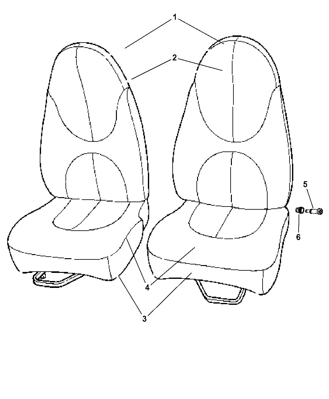 Dodge Dakota Front Bucket Seat