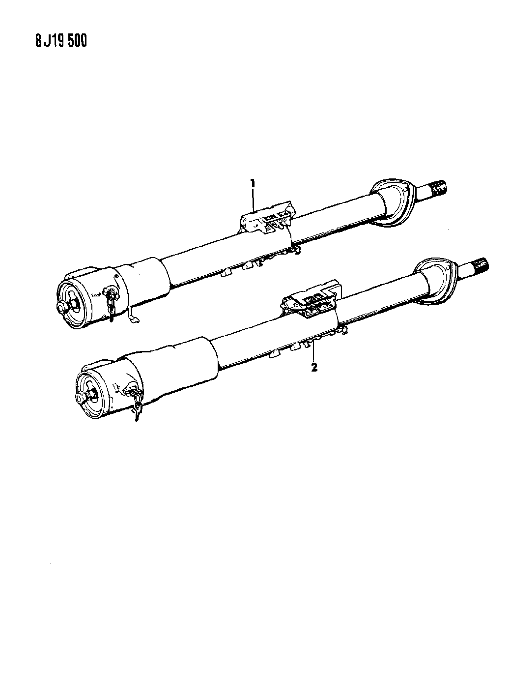 1989 Jeep Cherokee Column Assembly, Steering With Floor