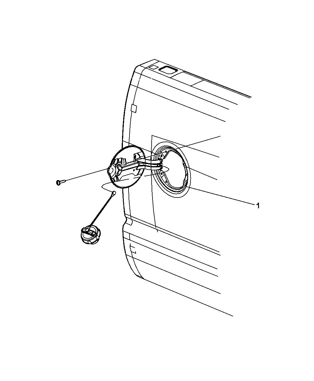 Dodge Ram Fuel Door