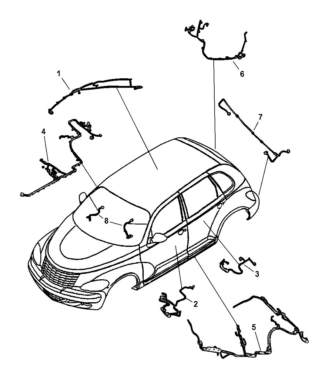 2001 Chrysler PT Cruiser Wiring Body & Accessory